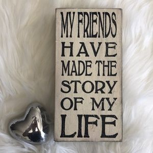 Wall decor Friends inspirational quote picture
